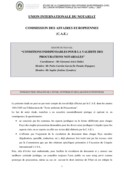 Essential conditions for the validity of notarial p