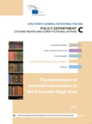 The movement of notarial instruments in the european legal área.